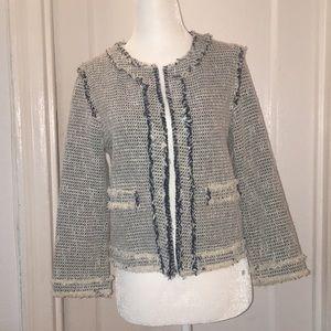 Zara tweed knit blazer